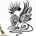 Samolepka na zeď Lví sfinga 001 (146357) - 1