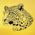 Samolepka na zeď Leopard 002 (146335) - 1