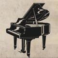 Samolepka na zeď Piano 001 (146466) - 1
