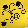 Samolepka na zeď Ornamenty z rostlin 019 (146423) - 1