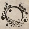 Samolepka na zeď Ornamenty z rostlin 021 (146425) - 1