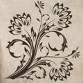 Samolepka na zeď Květiny 017 (146258) - 1