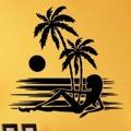 Samolepka na zeď Kráska na pláži 002 (146211) - 1