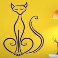 Samolepka na zeď Kočka 0436 (576045) - 1