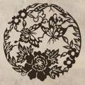Samolepka na zeď Květiny s motýly 005 (146289) - 1