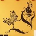 Samolepka na zeď Květiny s motýly 007 (146291) - 1