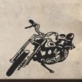 Samolepka na zeď Motorka 001 (146373) - 1