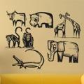Samolepka na zeď Africká zvířata 001 (146046) - 1