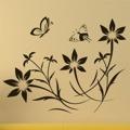 Samolepka na zeď Květiny s motýly 008 (146292) - 1