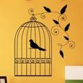 Samolepka na zeď Ptáci v kleci 003 (306239) - 1