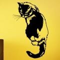 Samolepka na zeď Kočka 0480 (576269) - 1