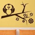 Samolepka na zeď Větev s ptáky 002 (146746) - 1