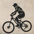 Samolepka na zeď Cyklista 001 (146103) - 1
