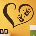 Samolepka na zeď Srdce s dlaněmi 001 (146608) - 1
