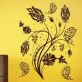 Samolepka na zeď Květiny s motýly 015 (146298) - 1