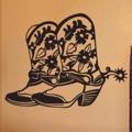 Samolepka na zeď Country boty 001 (146102) - 1