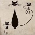 Samolepka na zeď Kočka 009 (147012) - 1