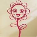Samolepka na zeď Květiny 011 (146252) - 1
