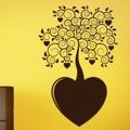 Samolepka na zeď Strom se srdíčky 0221 (572554) - 1