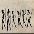 Samolepka na zeď Jeskynní lidé 003 (146188) - 1