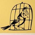 Samolepka na zeď Ptáci v kleci 002 (146511) - 1