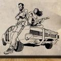 Samolepka na zeď Drsní chlapíci 001 (146142) - 1