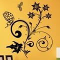 Samolepka na zeď Květiny s motýly 018 (146301) - 1