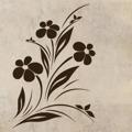 Samolepka na zeď Květiny 024 (146264) - 1