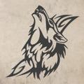 Samolepka na zeď Vlk 004 (147065) - 1