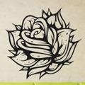 Samolepka na zeď Růže 005 (146551) - 1