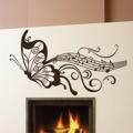 Samolepka na zeď Motýl s notami 001 (146388) - 1
