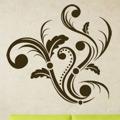 Samolepka na zeď Ornamenty z rostlin 004 (146408) - 1