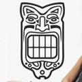 Samolepka na zeď Maska 005 (146364) - 1