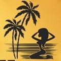 Samolepka na zeď Kráska na pláži 001 (146210) - 1