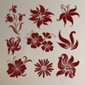 Samolepka na zeď Sada květin 001 (146567) - 1