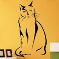 Samolepka na zeď Kočka 0430 (576039) - 1
