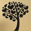 Samolepka na zeď Strom zamilovaných 0219 (572552) - 1