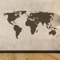 Samolepka na zeď Mapa světa 001 (146359) - 1