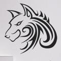 Samolepka na zeď Vlk 001 (146749) - 1