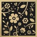 Samolepka na zeď Květiny 0215 (572548) - 1