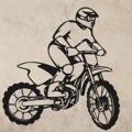 Samolepka na zeď Motorka 010 (147200) - 1