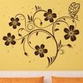 Samolepka na zeď Květiny s motýly 017 (146300) - 1