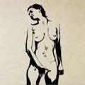 Samolepka na zeď Nahá žena 001 (146390) - 1