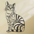 Samolepka na zeď Kočka 003 (146197) - 1