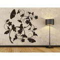 Samolepka na zeď Květiny s motýly 020 (146303) - 2