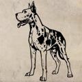 Samolepka na zeď Doga 003 (146948) - 1