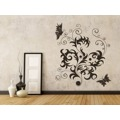 Samolepka na zeď Květiny s motýly 012 (146295) - 2