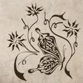 Samolepka na zeď Květiny s motýly 001 (146285) - 1