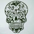 Samolepka na zeď Květinová lebka 001 (146241) - 1