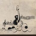 Samolepka na zeď Kytara 011 (147100) - 1
